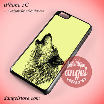 Howling Wolf Sketch Phone case for iPhone 5C and another iPhone devices