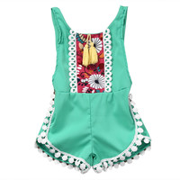 Casual Playsuit Jumpsuit Tops Outfit Clothes New Infant Baby Girl Clothing Floral Sleeveless Romper