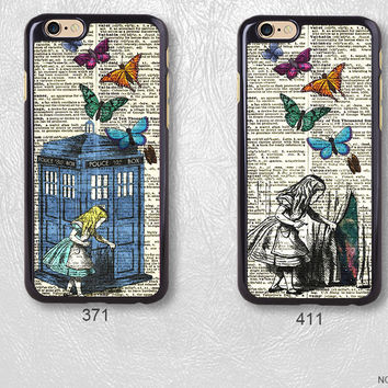 Alice in Wonderland on Dictionary Page Protective Phone Case For iPhone case & Samsung case, H11