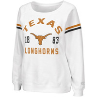 Texas Longhorns Womens Tailgate Boatneck Sweatshirt - White