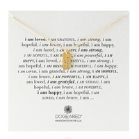 Gold-Dipped I Am Strong Dogtag Necklace - Dogeared