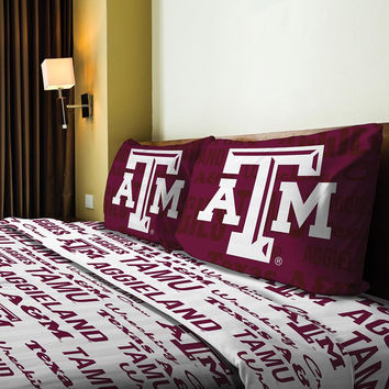 Texas A&M Aggies NCAA Full Sheet Set (Anthem Series)