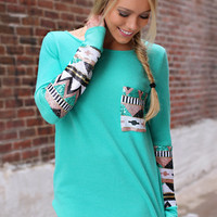 Under a Spell Top - Mint