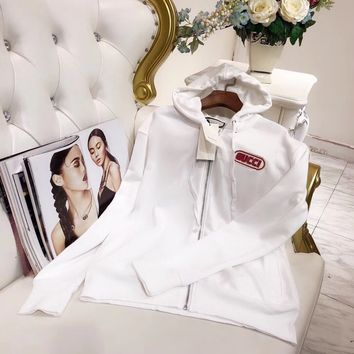 Gucci Clothes Women  Fashion All-match Cotton Sweater Long Sleeve Cute Letter Stretch Cardigan