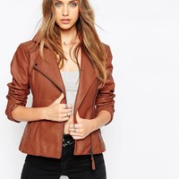 ASOS Ultimate Biker Jacket With Stitch Detail at asos.com