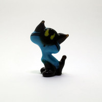 Pretty cat Figurine Glass Cat Glass Animal Sculpture Glass Figurine Glass Figure Glass Animals Glass Figurines Glass Figures Cat(015)