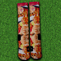 Bacon Pizza Cat Socks,Custom socks,Personalized socks,Elite socks