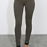 Olive Body Sculpting Jeggings