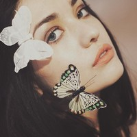 """""""The Touch Of The Butterflies 2"""" - Art Print by Marta Bevacqua"""