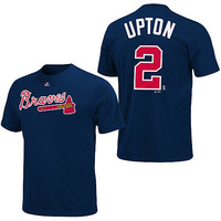 Atlanta Braves B.J. Upton Name & Number T-Shirt by Majestic Athletic - MLB.com Shop