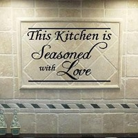 VINYL QUOTE  This Kitchen Is Seasoned With Love  by vinylforall