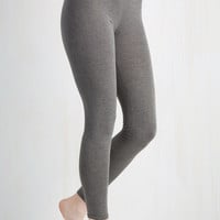 Minimal Skinny Laid-back Lounging Leggings in Grey