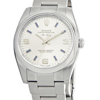 Rolex Airking Mens 31 Jewels Automatic Watch 114200SABLSO