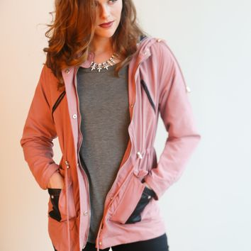Lacey Hooded Rain Jacket - 5 Colors!