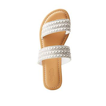 Embellished Slide Sandals | Charlotte Russe