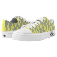 Sneakers: Khaki yellow cactus Printed Shoes