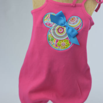 Minnie Romper by Mandy Lou {Pink}
