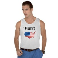 Merica Old English Letters Tank from Zazzle.com