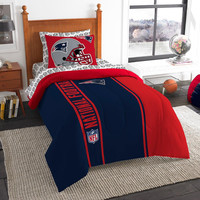 New England Patriots NFL Twin Comforter Bed in a Bag (Soft & Cozy) (64in x 86in)