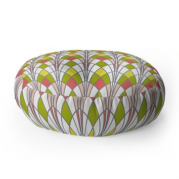 Heather Dutton Arcada Citrus Floor Pillow Round