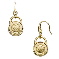 Michael Kors Logo Lock Drop Earrings | Dillards.com