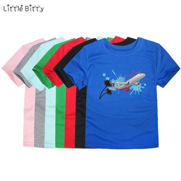 Little Bitty boys t-shirt for girls airplane kids t shirts baby boy t shirt children kids T shirt child boys t shirt kids tee