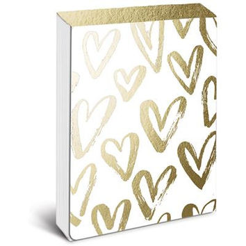 Brushed Hearts Pocket Notepad