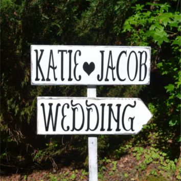 Wedding Personalized signs Wedding Signs Large rustic wedding  Rustic  a Directional for Arrows