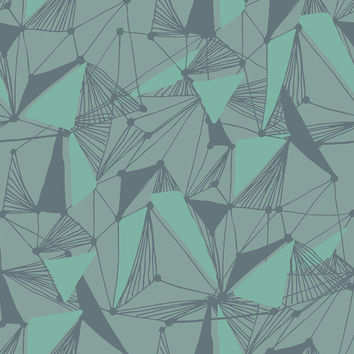 Seamless Geometric Pattern Removable Wallpaper