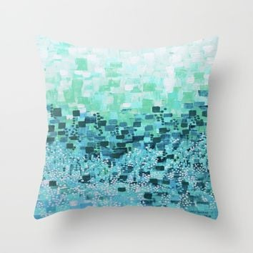 :: Sea Glass Compote :: Throw Pillow by :: GaleStorm Artworks ::