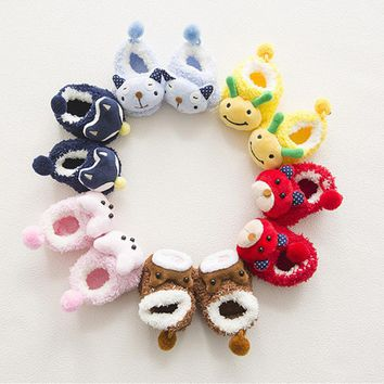 Fluffy Anti - Slip Animal Socks