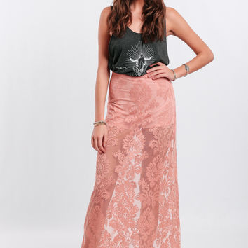 Walk Of Fame Lace Maxi Skirt