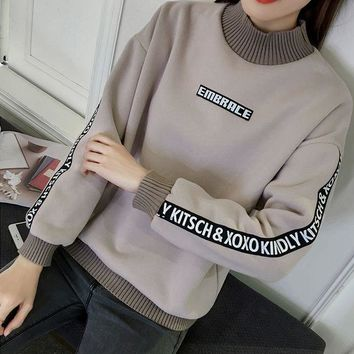 DCCKB62 Loose and cashmere sweater female thickening