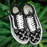 Fashion Online Trendsetter Vans Era X Supreme X Lv Old Skool Canvas Flat Sneakers Sport Shoes