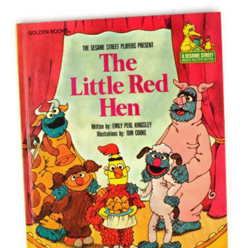 Vintage 1981 The Sesame Street Players Present The Little Red Hen, Sesame Street Book For Kids