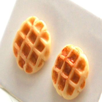 Belgian Waffles Stud Earrings