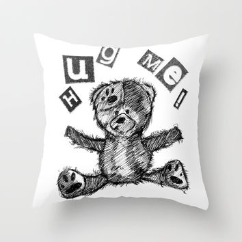 I Need A Bear Hug Throw Pillow by LoveSpud | Society6