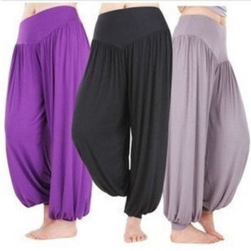 Long Cotton Baggy Pants