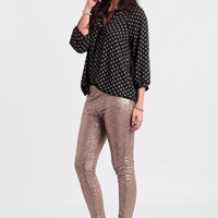 North Star Sequin Lounge Pants