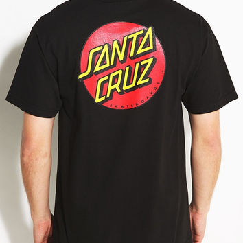 Santa Cruz, Classic Dot T-Shirt - Black