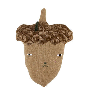 Angus the Acorn - soft knitted toy, light brown