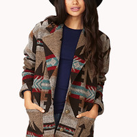 Worldly Tribal Print Trench Coat
