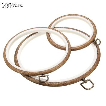 Simple Wood Frame Embroidery Hoop Ring Circle Round Loop For CrossStitch Hand DIY Needlecraft Household Art Craft Sewing Tools