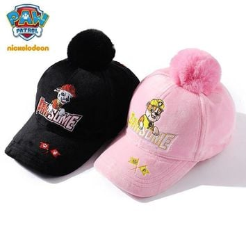 New Genuine paw patrol Baby Cap For Children winter hat for Girls boys Kids Hat Baby kids  fluffy hat Autumn/winter toy gift
