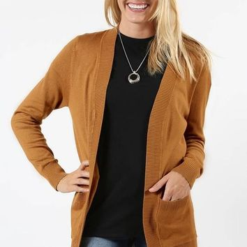 Curves - Open Front Cardigan