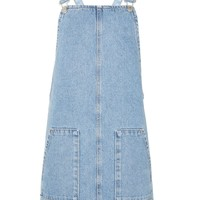 MOTO Light Blue Pinafore Dress | Topshop