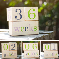 Cute and Colorful Baby Age Blocks - Fun Photo Prop and Unique Baby Shower Gift