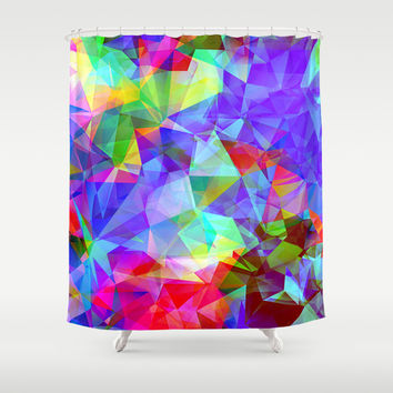 polygons Shower Curtain by Haroulita