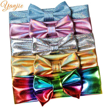 10 pcs Girl Metallic Bow Headband