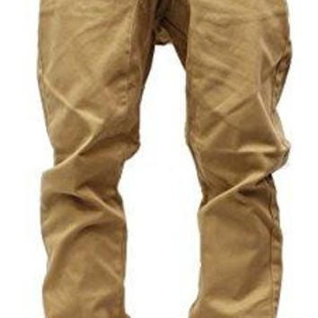 Victorious Mens Twill Jogger Pants (XX-Large, Wheat)